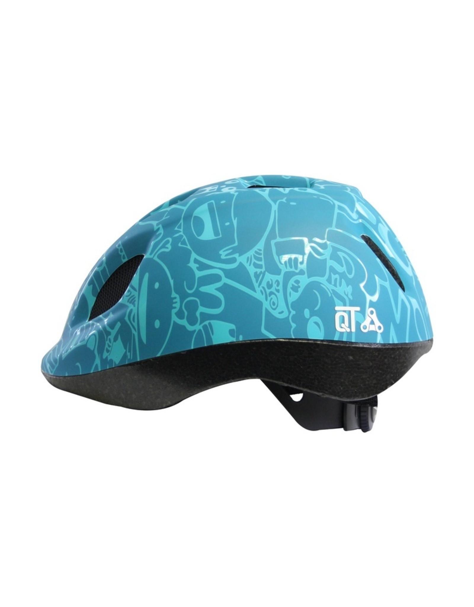QT fietshelm kleuter Happy Blue