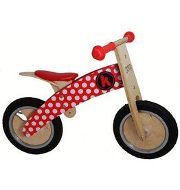 Kiddimoto Kiddimoto loopfiets Red Dotty