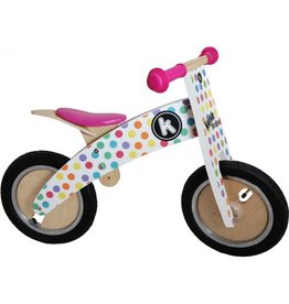 Kiddimoto Kiddimoto loopfiets Pastel Dotty