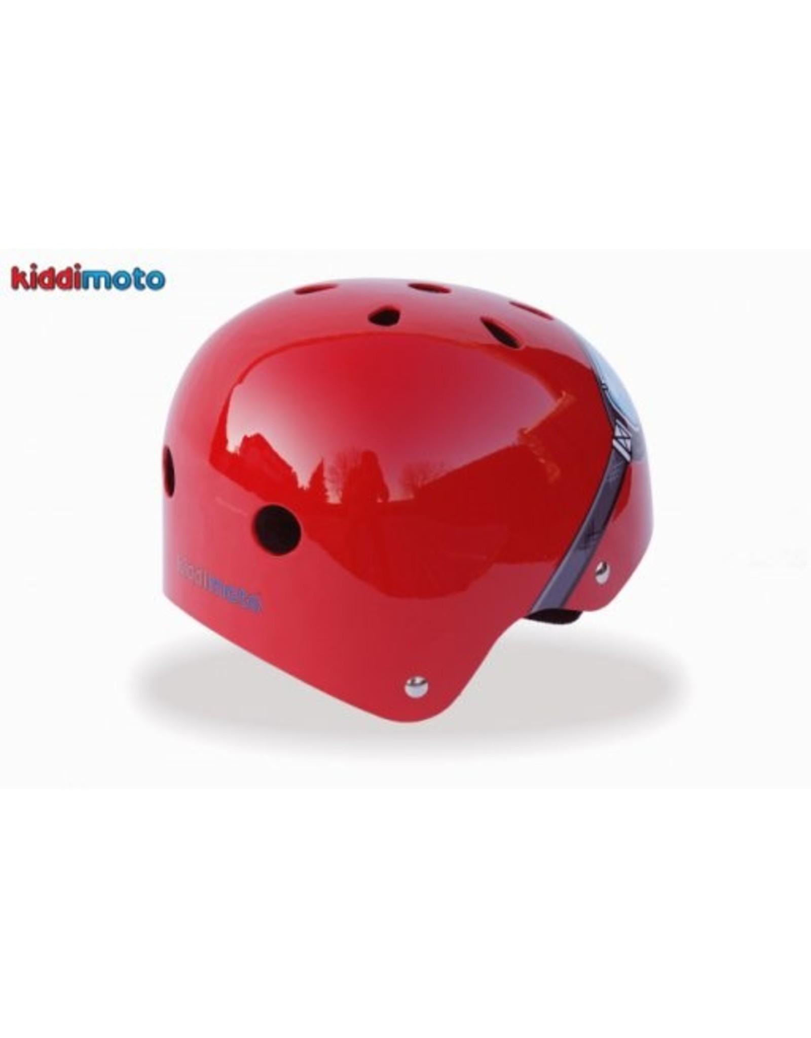 Kiddimoto fietshelm kind Red goggles