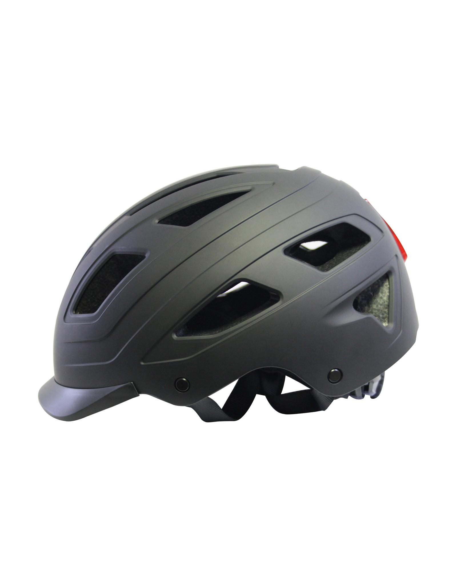 QT Cycle Tech fietshelm volwassene Urban Style zwart