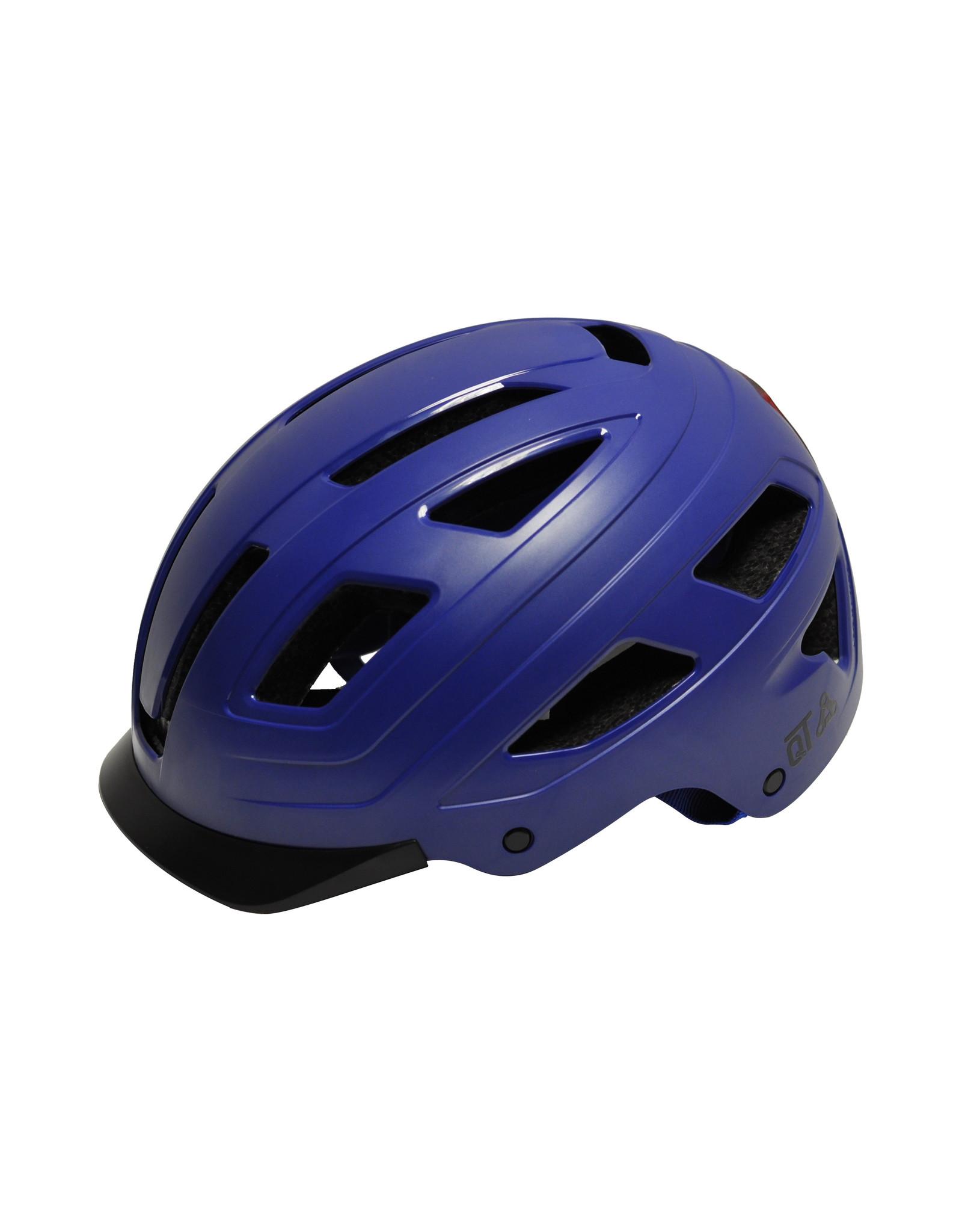 QT Cycle Tech fietshelm volwassene Urban Style blauw