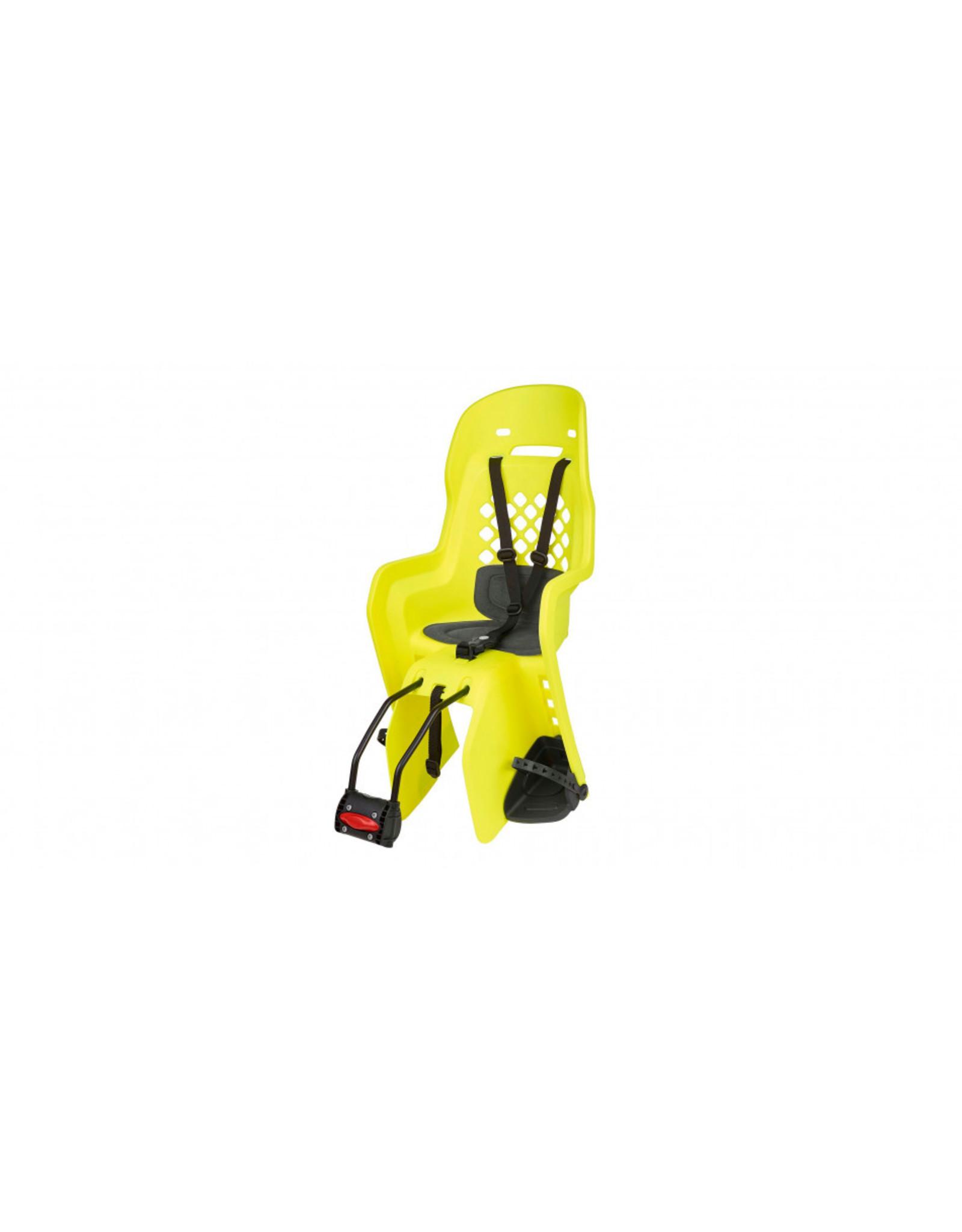 Polisport kinderzitje Joy fluo geel op frame