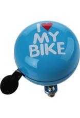QT Fietsbel I Love My Bike Blauw 60 Mm