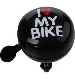 QT Fietsbel I Love My Bike Zwart