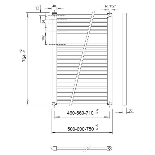 Veraline Economy Handdoekradiator.Veraline Economy Handdoekradiator 764x600 Cvtopper Nl