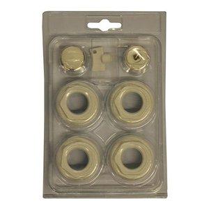 Thermrad AluBasic verloopringen en radiatorstoppen