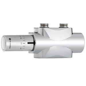 Heimeier Multilux 4 - Set chroom incl. Halo thermostaatkop