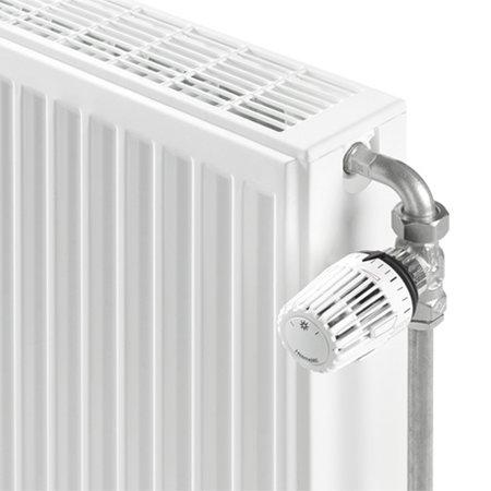 """Heimeier 1/2"""" radiatorbocht 90 graden vernikkeld"""