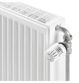 """Danfoss 1/2"""" radiatorbocht 90 graden chroom"""