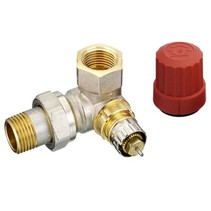 "Danfoss RA-N thermostaatkraan 1/2"" dubbel haaks links"