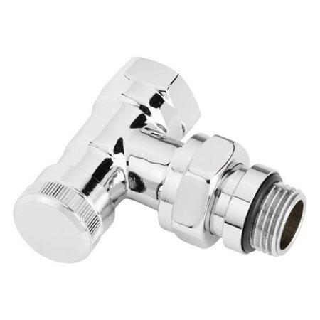 "Danfoss voetventiel RLV-X/C 1/2"" haaks chroom"