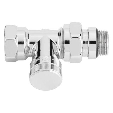 "Danfoss voetventiel RLV-X/C 1/2"" recht chroom"