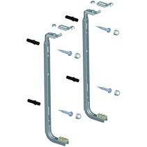 Set Rofix J-beugels voor radiatoren van 200mm hoog