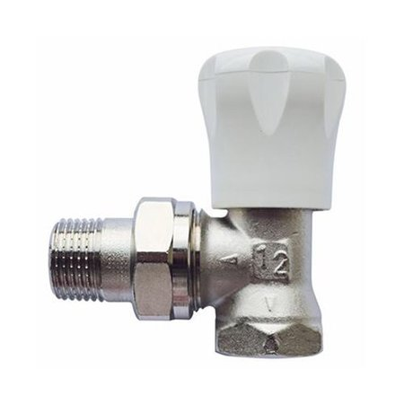 "Herz handbediende radiatorkraan 1/2"" haaks"