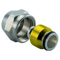 Uponor koppeling 16x2mm x 15mm knel