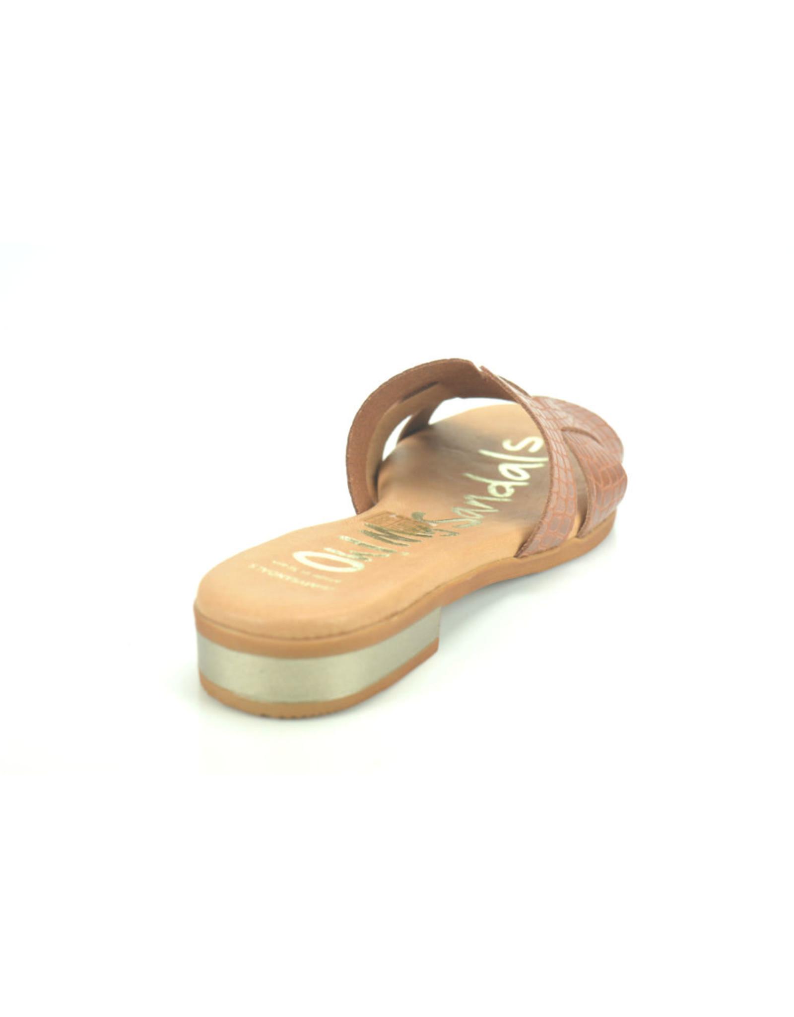 Oh My Sandals 9257 cognac bruin