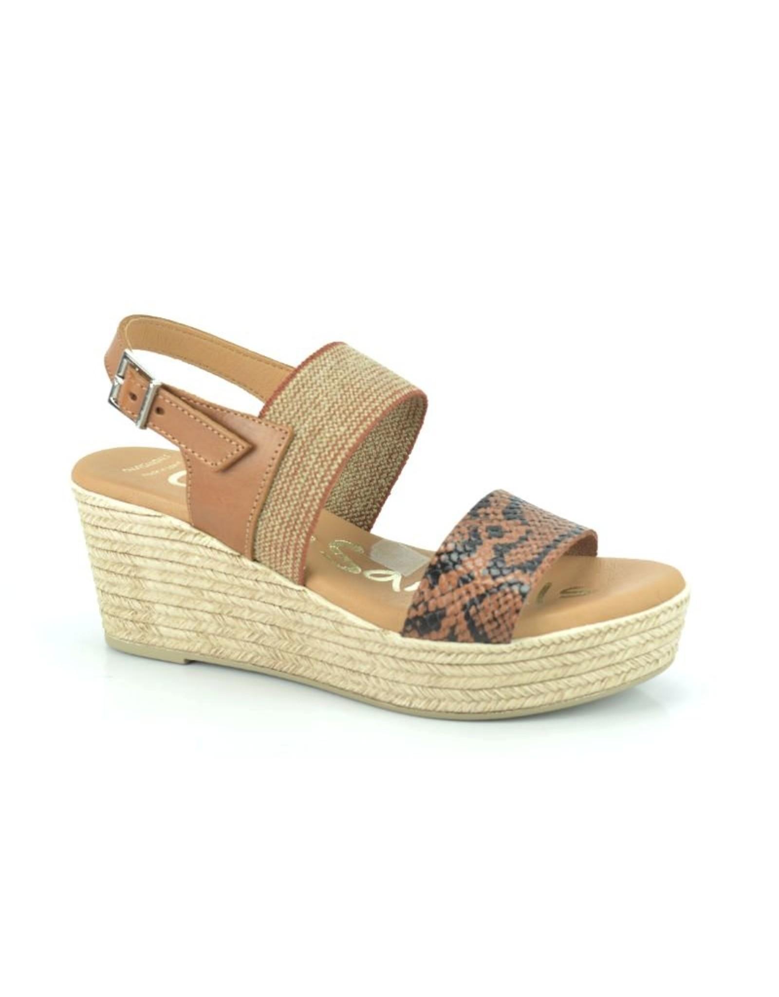 Oh My Sandals 8215 cognac bruin