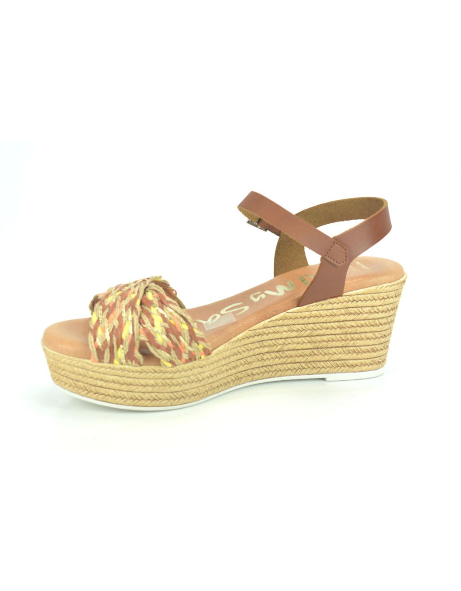 Oh My Sandals 9260 cognac bruin