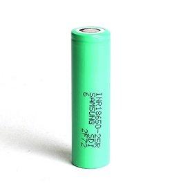 Samsung 25R-5R 2500mAh 20A 18650 Flattop Battery