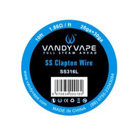 Vandy Vape - SS Clapton Wire SS316L / 26ga + 30ga - 10ft