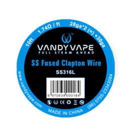 Vandy Vape - SS Fused Clapton Wire SS316L / 28ga * 2 (=) + 30ga 10ft