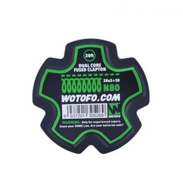 Wotofo Fused Clapton 26 + 38 N80 wire - 20ft
