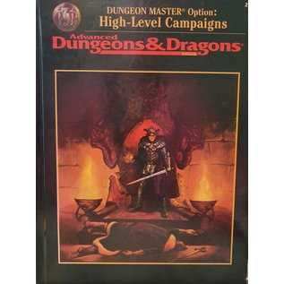 Advanced Dungeon & Dragons, Dungeon Master Option - High-Level Campaigns