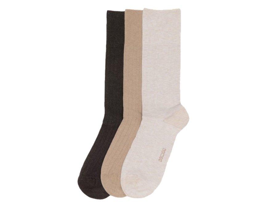 Triple Pack Coton One Size Socks Multiple Colours 1