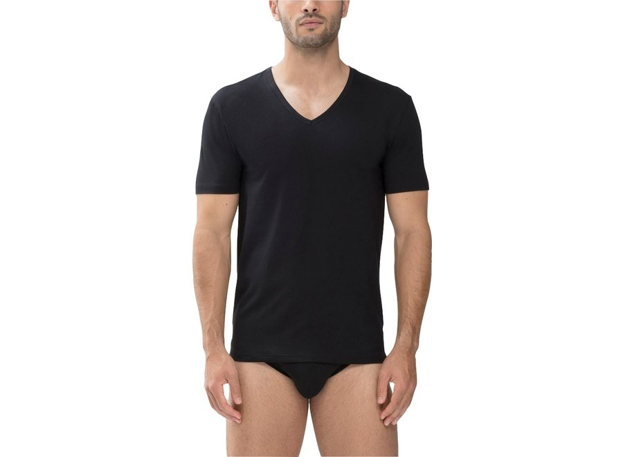 Dry Cotton V-Neck Shirt Black