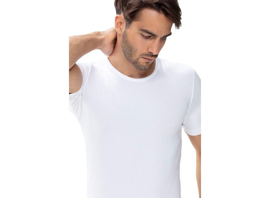 Dry Cotton Crew Neck Slim Fit Shirt White