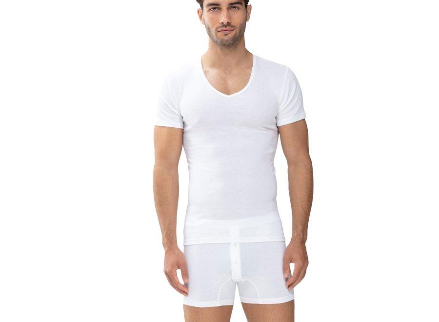 Casual Cotton V-Neck White