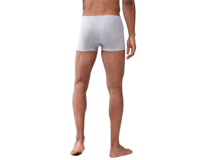 Casual Cotton Shorty Light Grey Melange