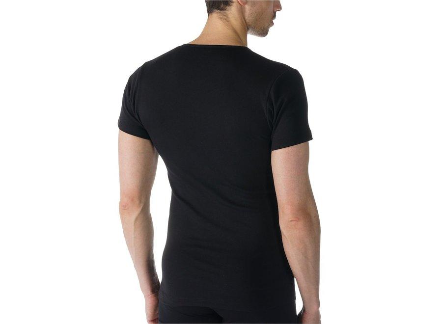 Casual Cotton V-Neck Black