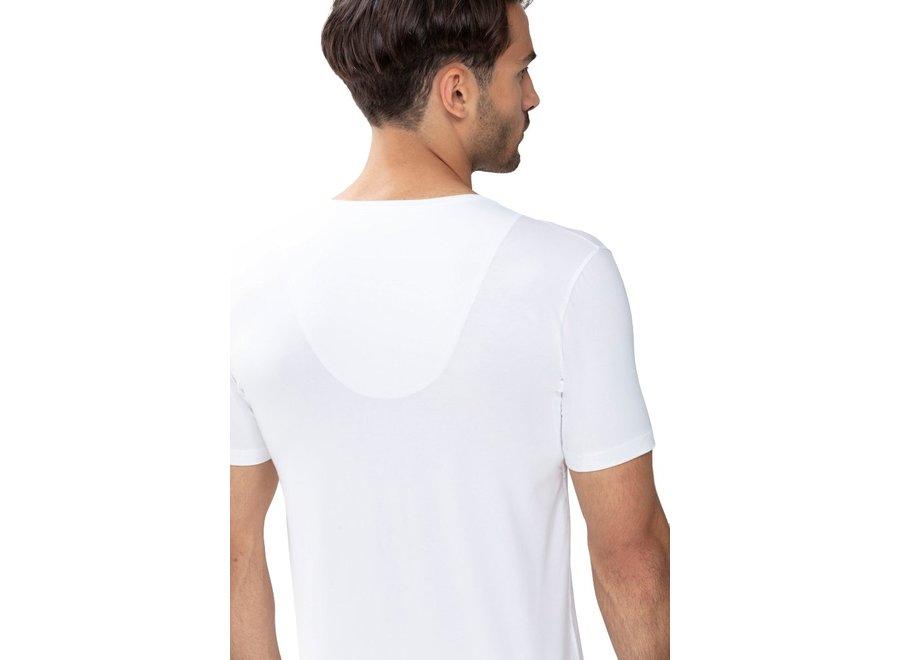 Dry Cotton V-Neck White
