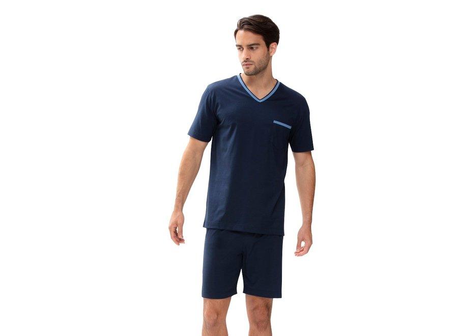 Night Basic Short Pyjamas Yacht Blue