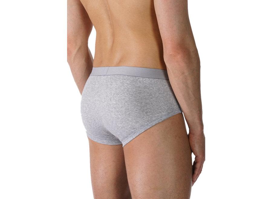 Casual Cotton Briefs Light Grey Melange
