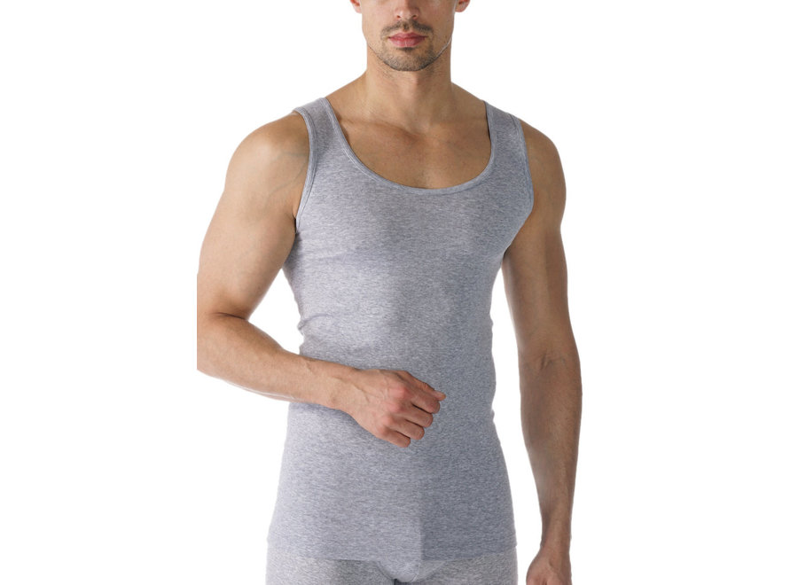 Casual Cotton Athletic Shirt Light Grey Melange