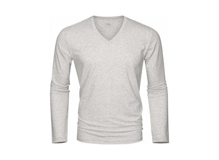 Club Collection Shirt Light Grey Melange