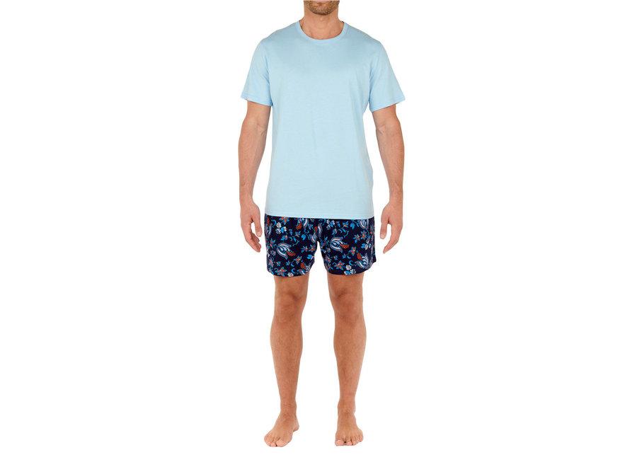 Morgiou Short Sleepwear Blue