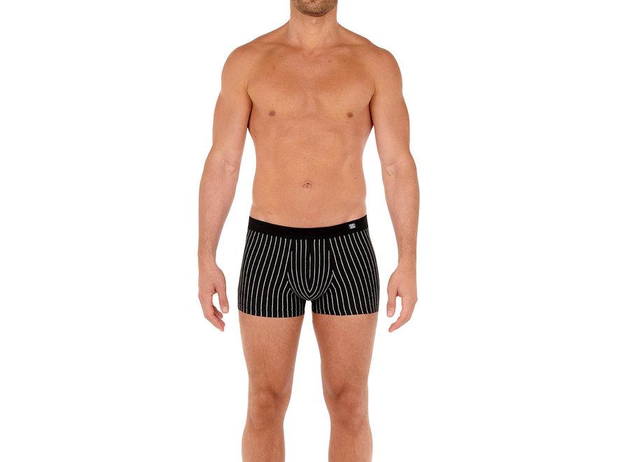 Aix Comfort Boxer Briefs Black-White Stripes