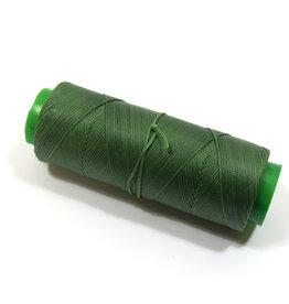 Waxed hand sewing thread green