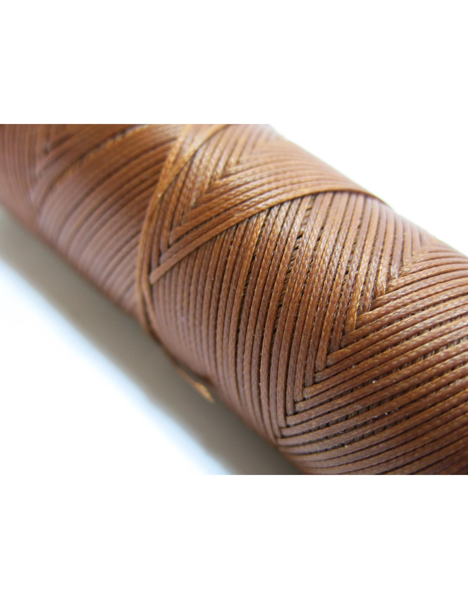 Waxed hand sewing thread middel brown