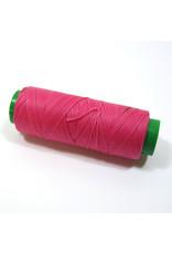 Waxed hand sewing thread fushia