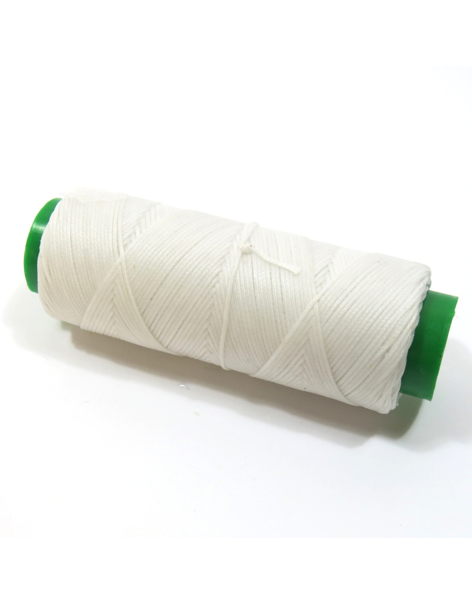 Waxed hand sewing thread white
