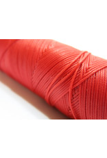 Waxed hand sewing thread red