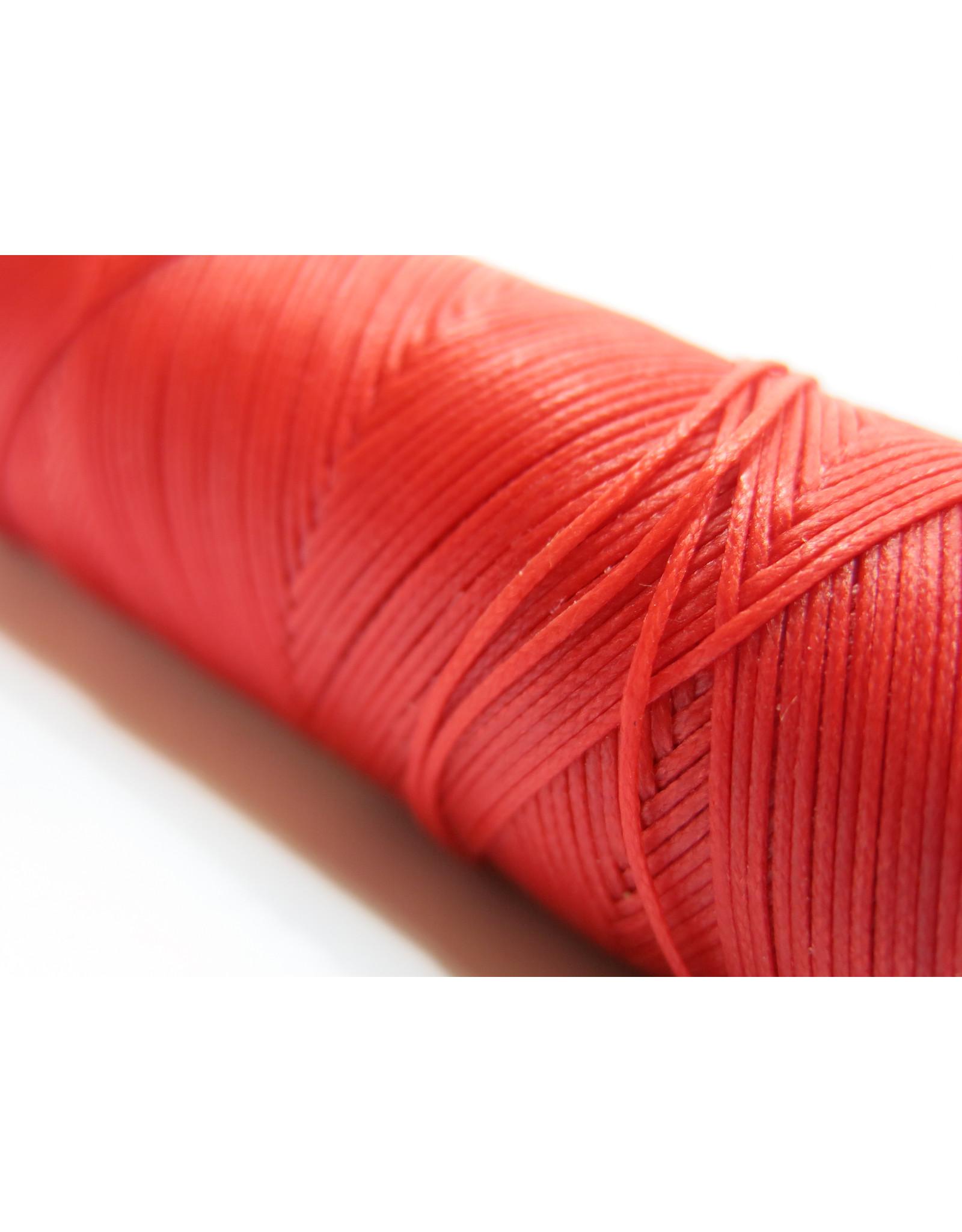 Gewaxt handnaaigaren rood