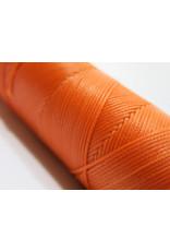 Waxed hand sewing thread orange