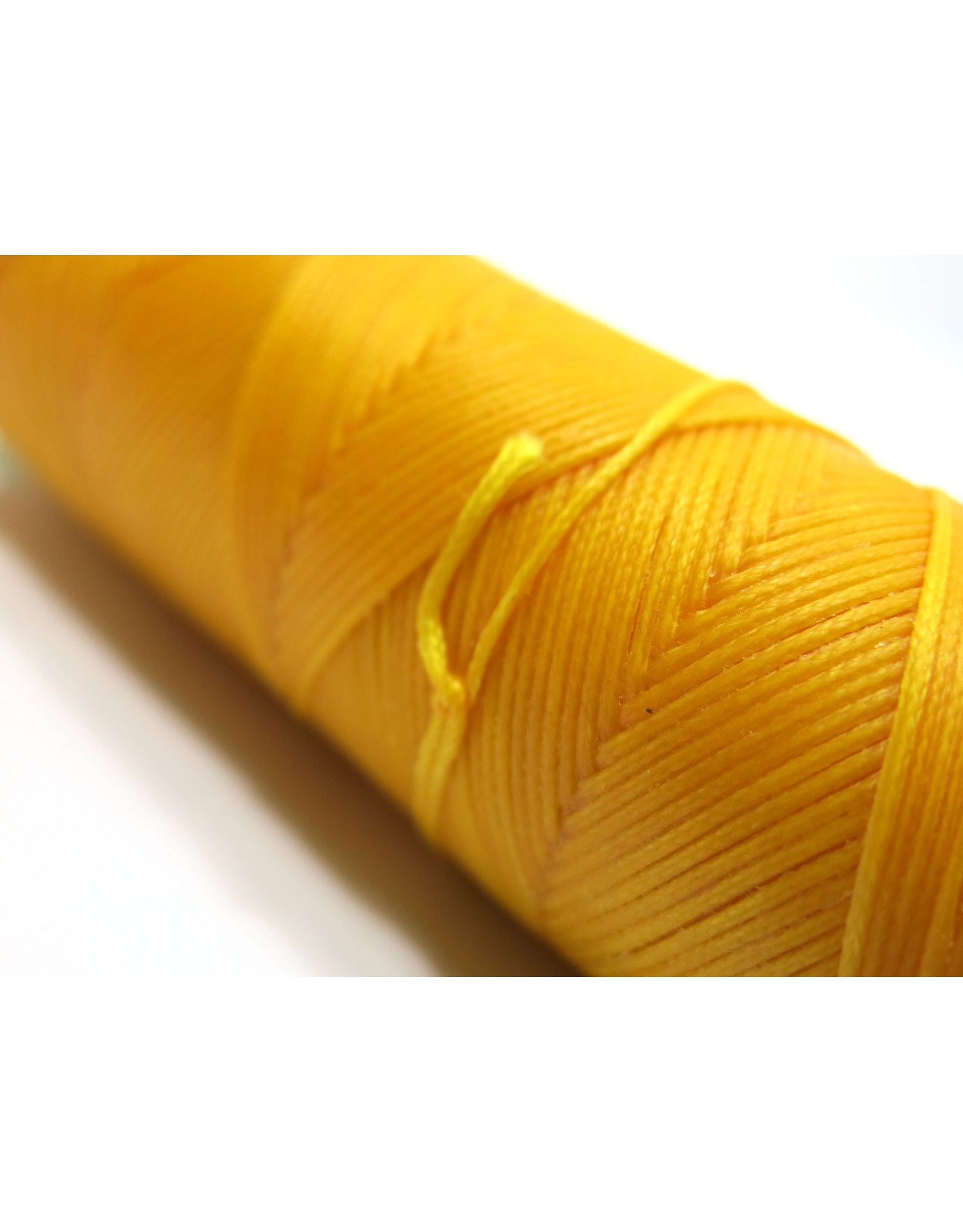Waxed hand sewing thread yellow