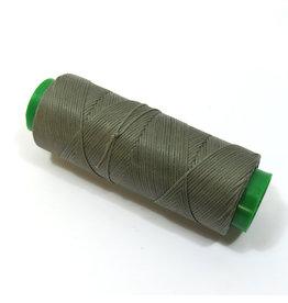 Waxed hand sewing thread grey